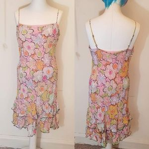 Pink Multicolored Sleeveless Floral Lily Sundress